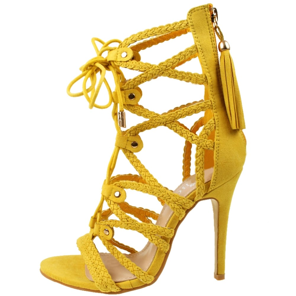 Strappy Yellow Heels 8yvNisZU