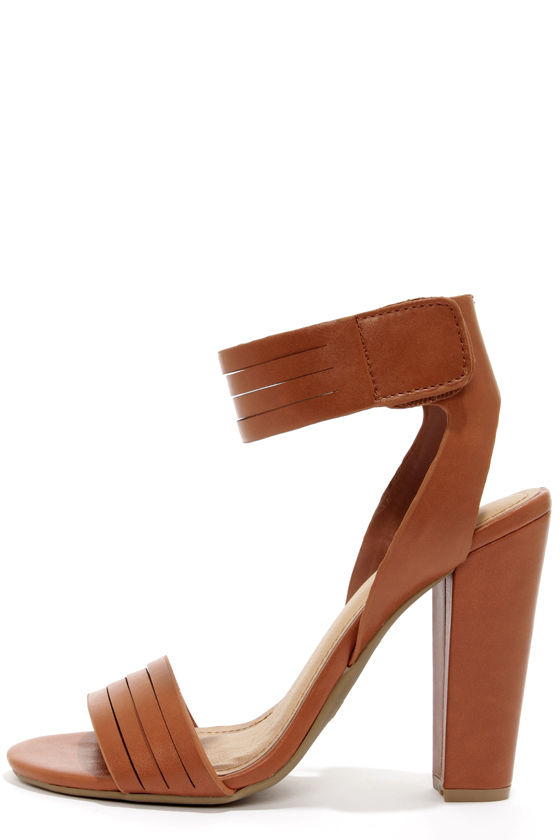 Tan Ankle Strap Heels 61wSW4yi