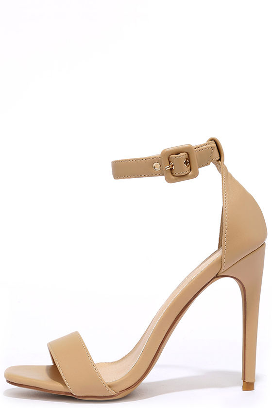 Tan Heels With Ankle Strap iG8Yv8B1