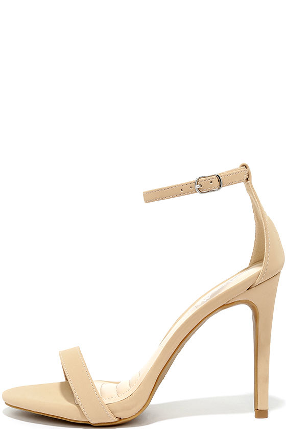 Tan Heels With Ankle Strap ngJDc7oi