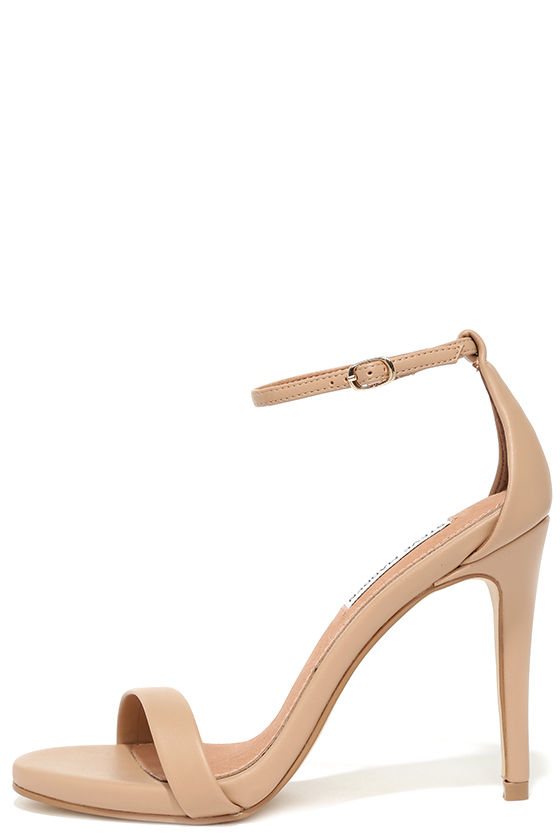 Tan Heels With Ankle Strap 71K78m3V