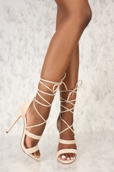 Tan Lace Up Heels hV8HOidR