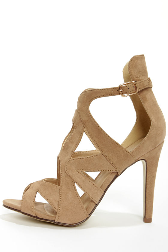 Taupe Strappy Heels sBkeBXAq