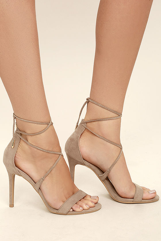 Taupe Strappy Heels BZKVATul