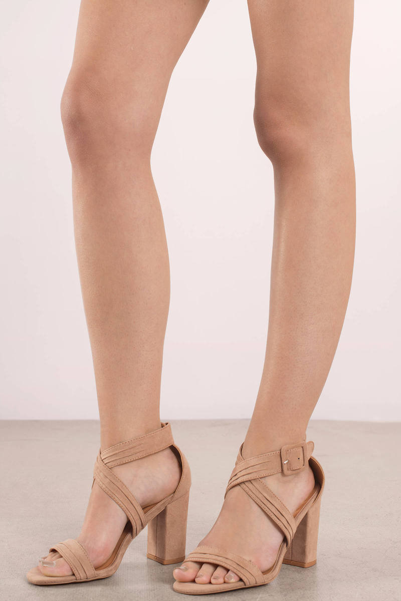 Taupe Strappy Heels jMWNWCEm