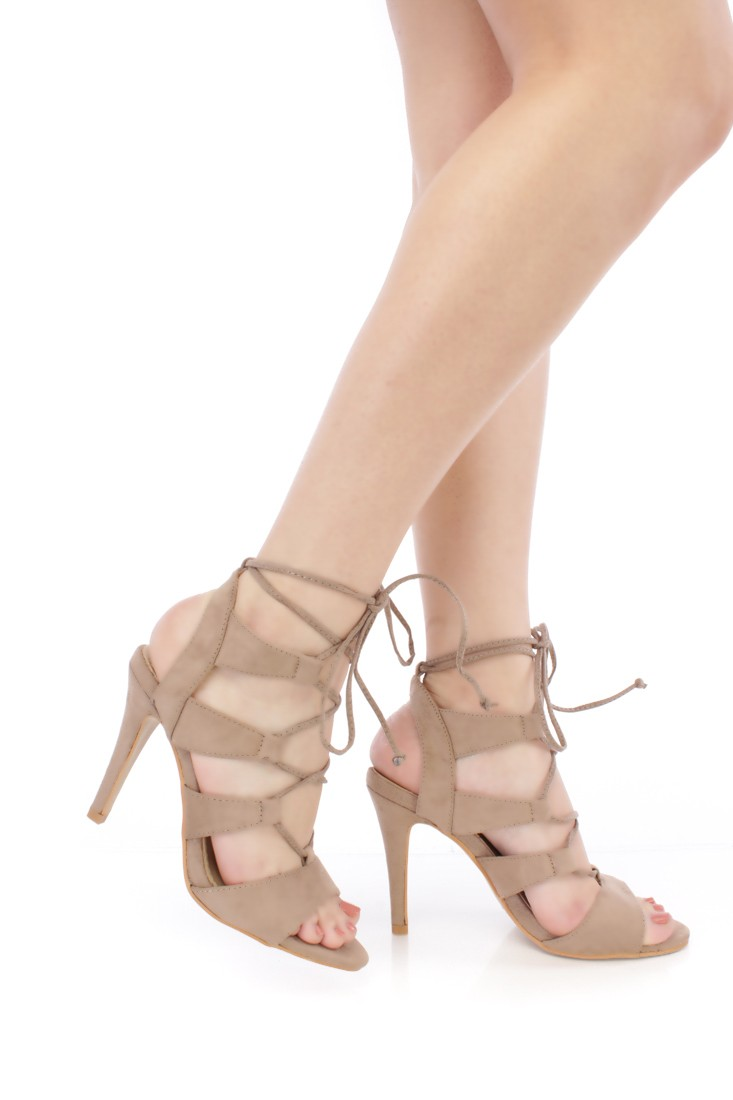 Taupe Strappy Heels ckpFwwWp
