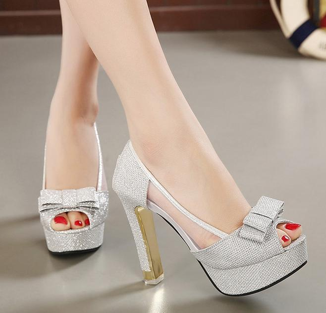Thick Silver Heels JH7wUgiL