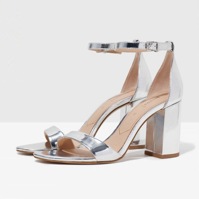 Thick Silver Heels FNJ1Gvfb