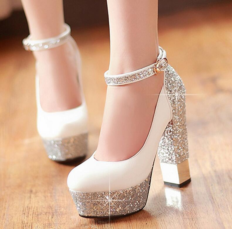 Thick Silver Heels 9FUPAJft