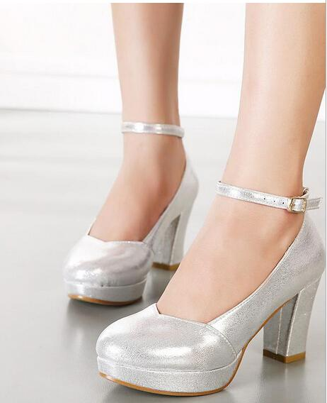 Thick Silver Heels W6agHZgB
