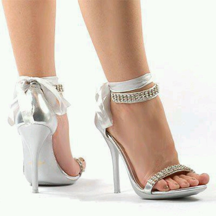 Wedding Silver Heels tN26PAuc