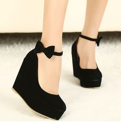 Wedge Heels With Bow eG5NyU7m
