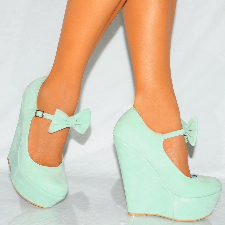 Wedge Heels With Bow ikimfO73