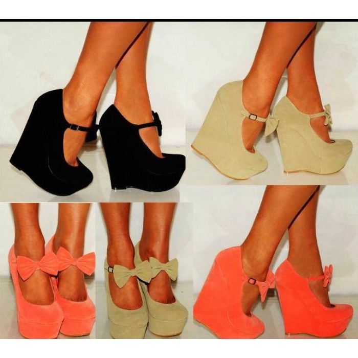 Wedge Heels With Bow XpAj2H3N