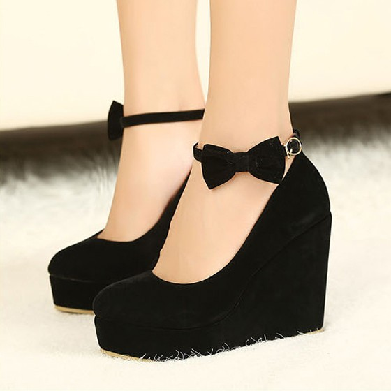 Wedge Heels With Bow 272dl2om