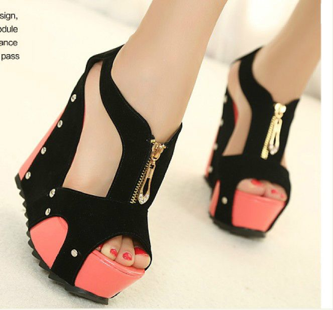 Wedge High Heel Shoes QRSRIEV4
