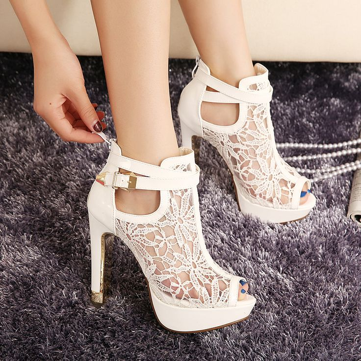 White And Black High Heels 99nlq4RZ