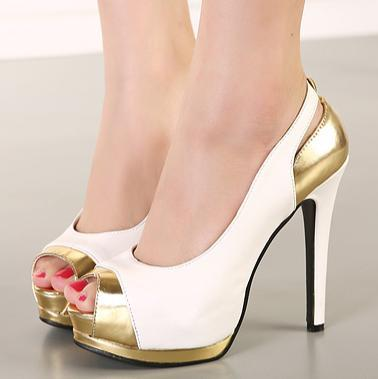 White And Gold High Heels TJ9qKsWa