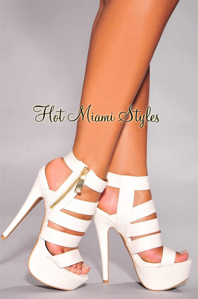 White And Gold High Heels tG8FiByA