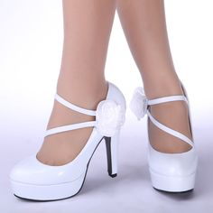 White Heel Shoes For Women X0TKWCoS