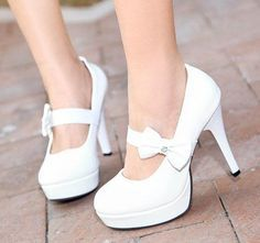 White Heels With Bow ETREWad6
