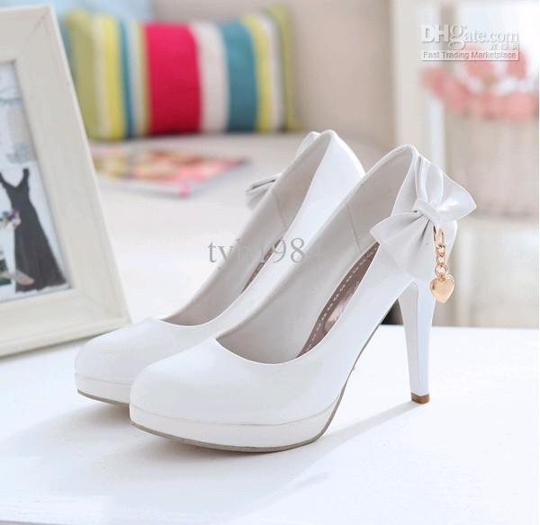 White Heels With Bow 88JdMIS7