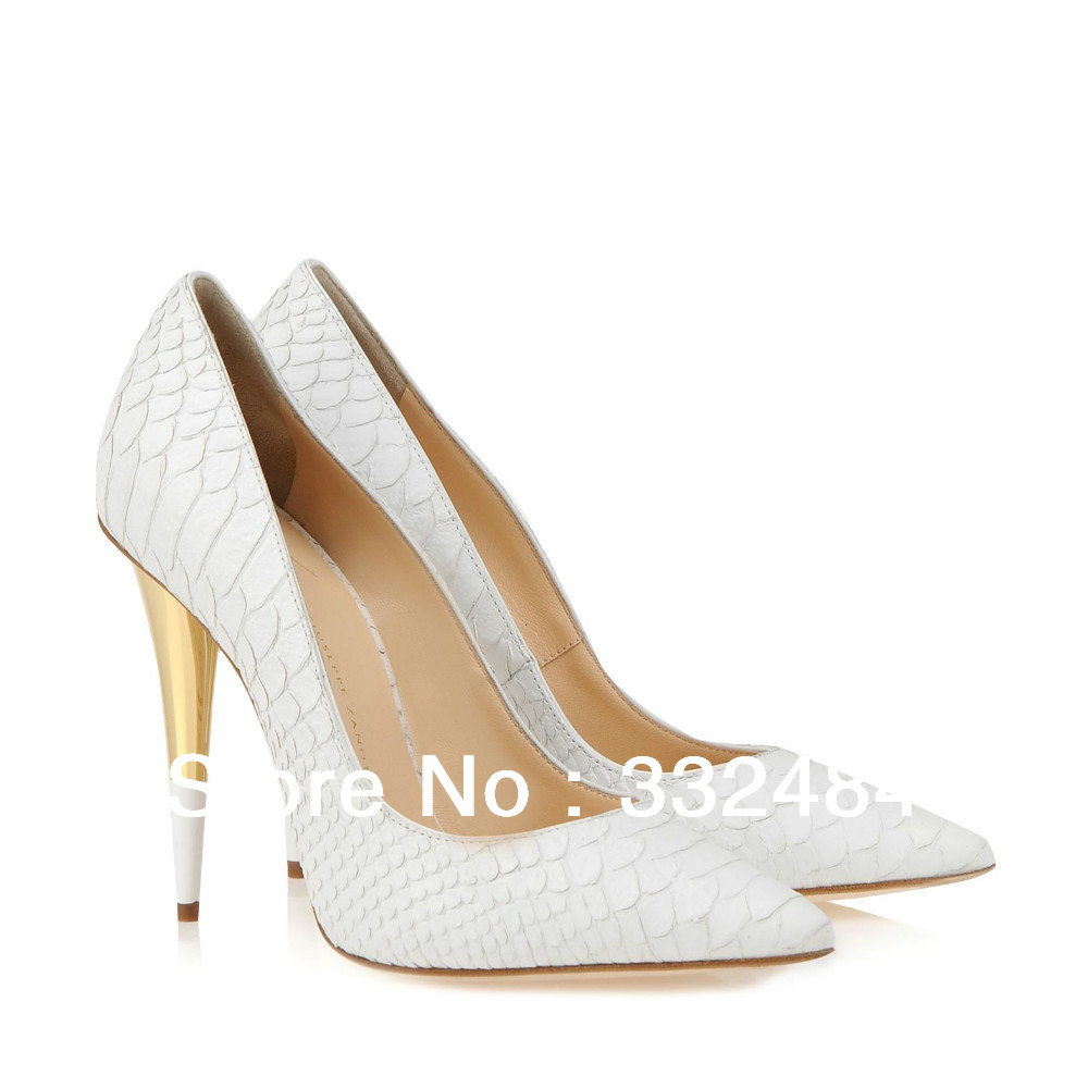 White Heels With Gold nzYX2i32
