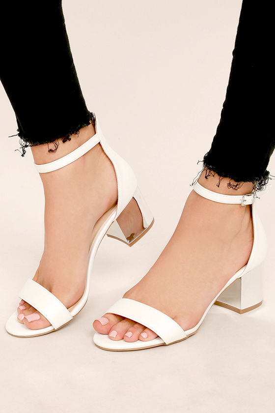 White Heels With Strap dlMYgVkF