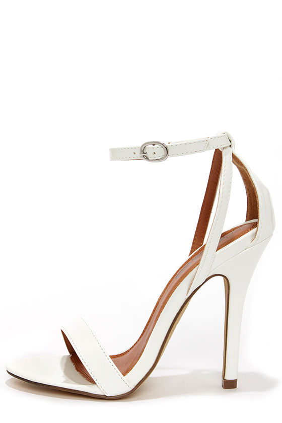 White Heels With Strap sFCIPjXQ