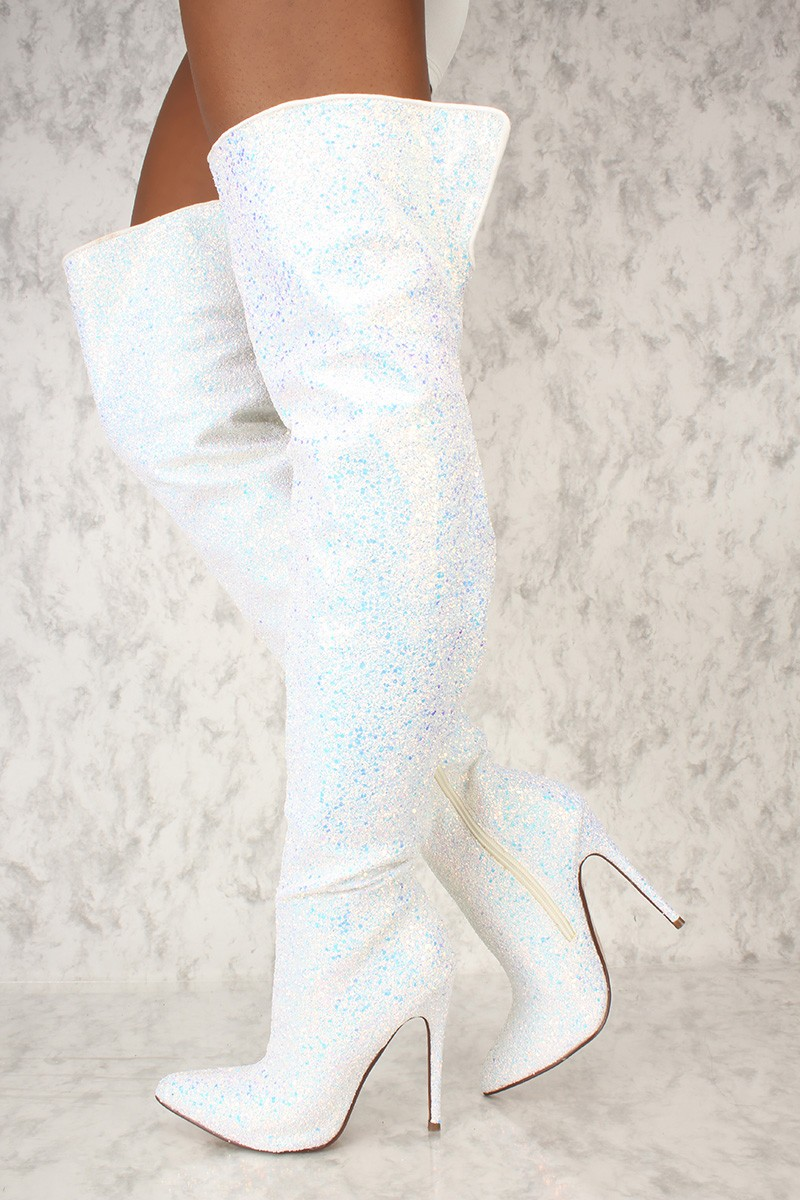White High Heel Boots msvD7cIi