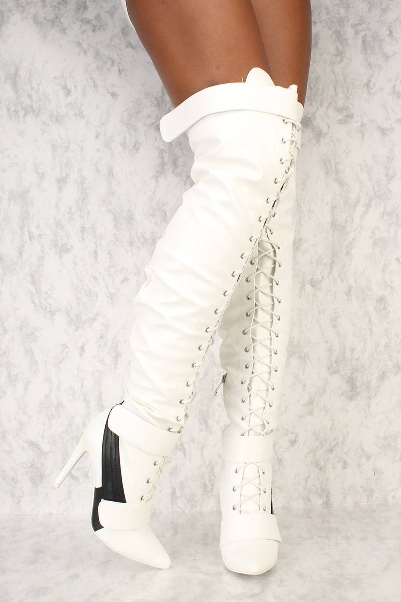White High Heel Boots 5YKsbnVl