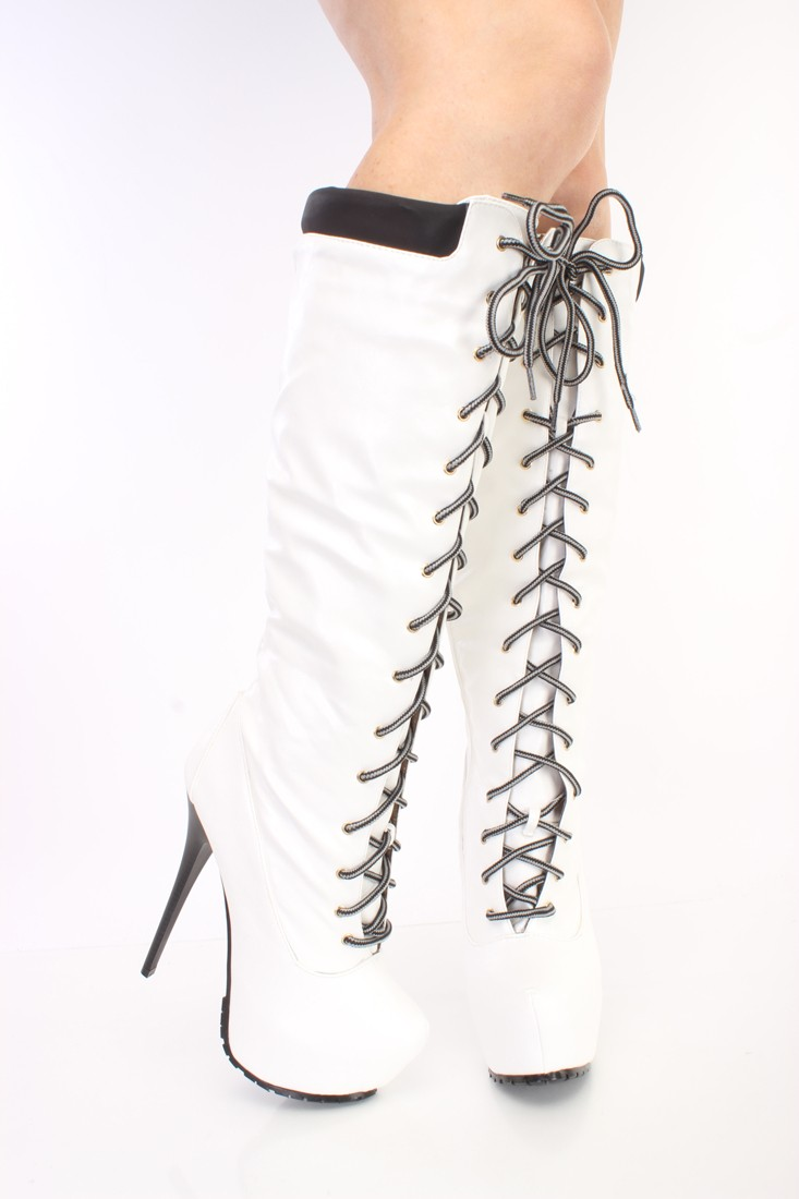 White High Heel Boots ZwtRDO2u