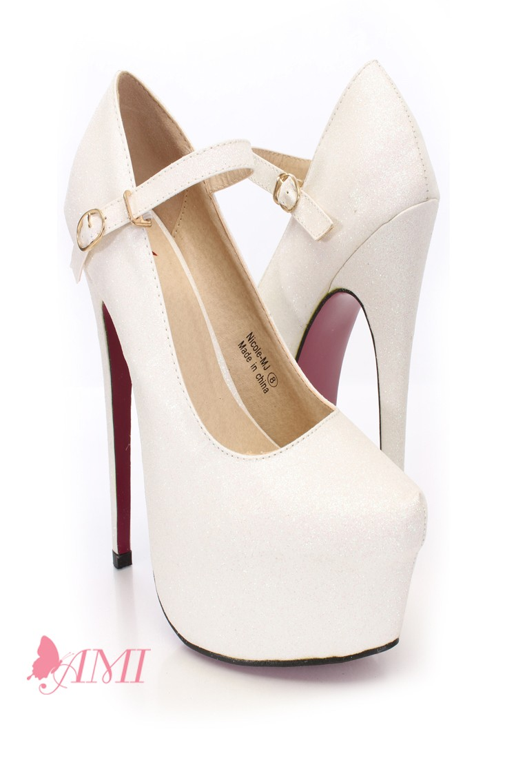 White High Heels Pumps dcGiKURA