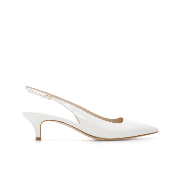 White Kitten Heel Pumps 3QZYc4Ct