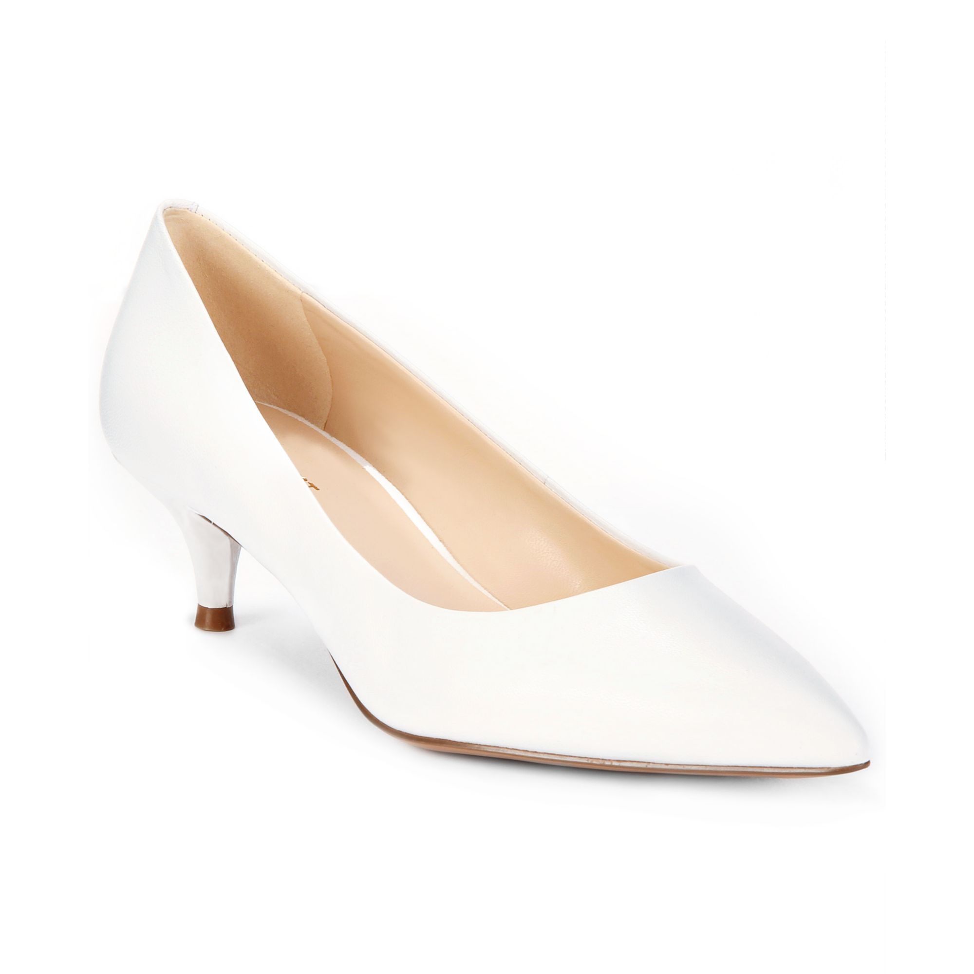 White Kitten Heel Pumps UHkTQlQD