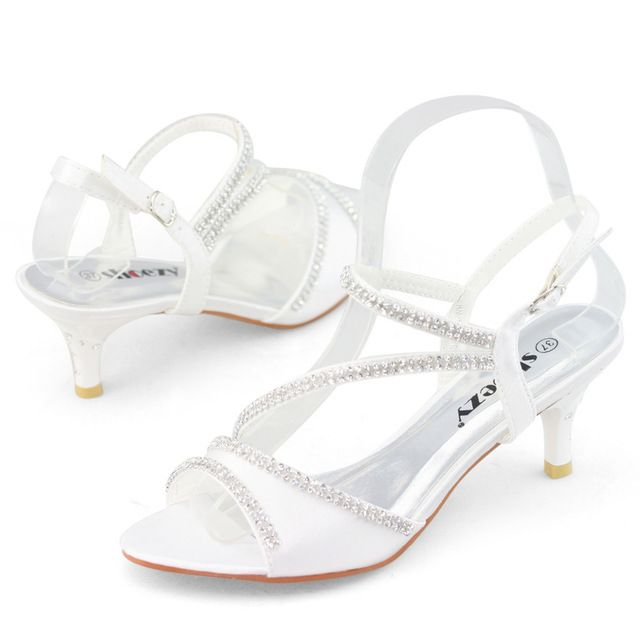 White Kitten Heel Wedding Shoes s3PPqNkm