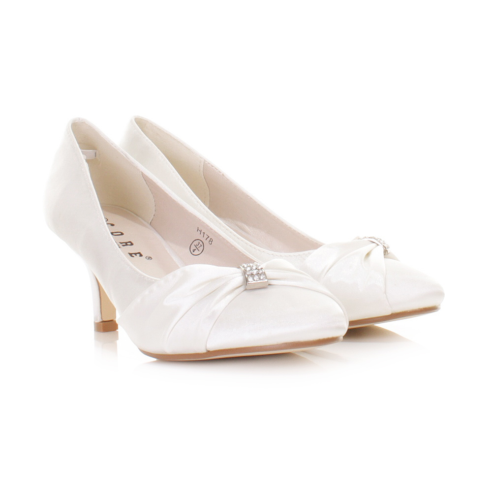 White Kitten Heel Wedding Shoes xGDel3qR