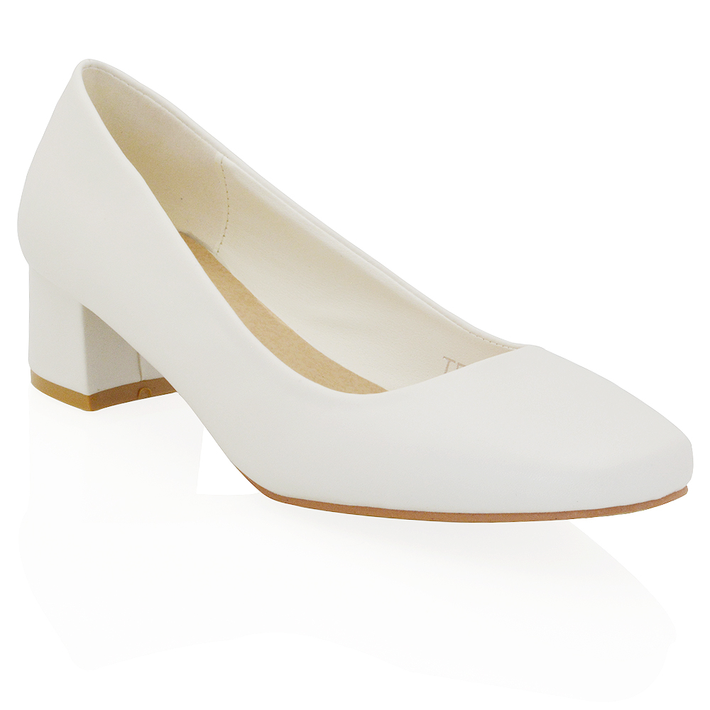 White Low Heel Shoes JWR2Gxkr