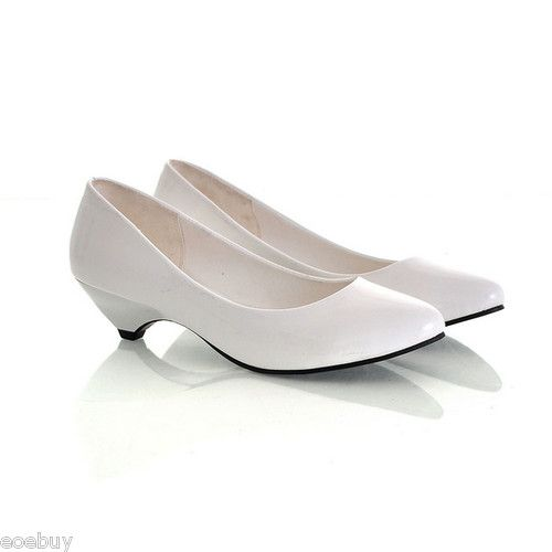 White Low Heel Shoes TYj5AfkQ