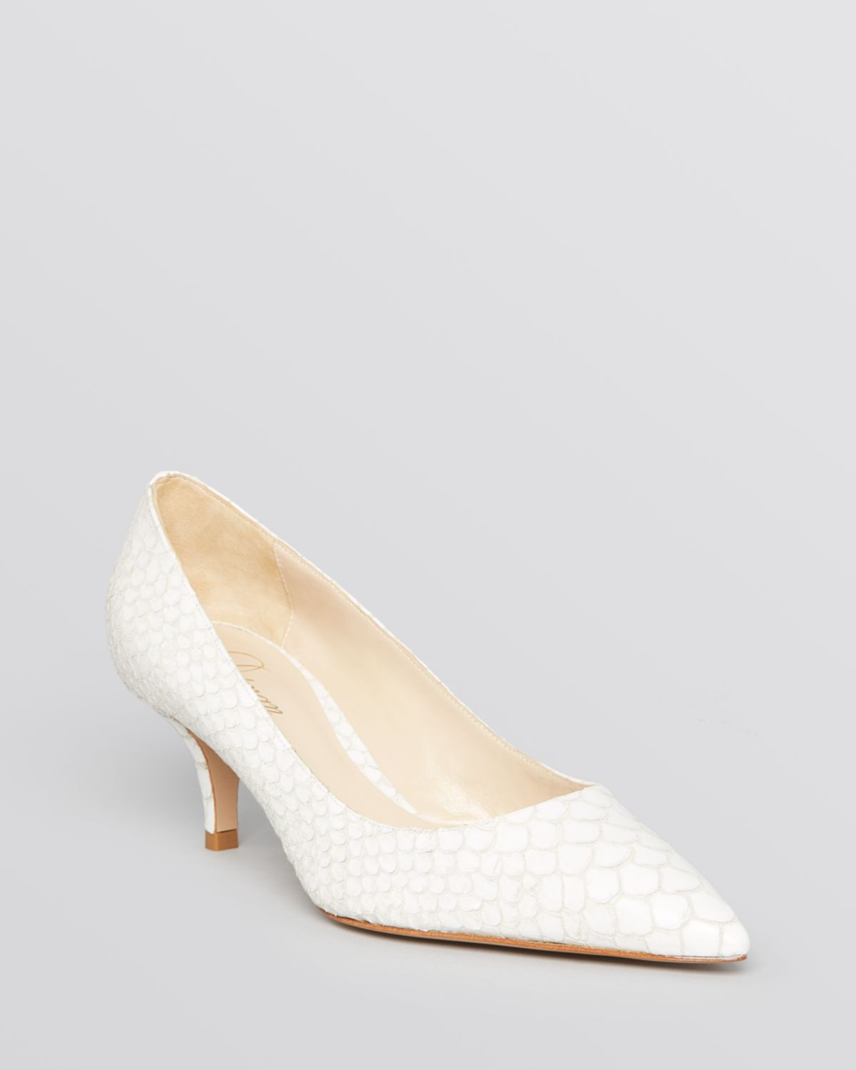 White Mid Heel Pumps H7EJKmNf