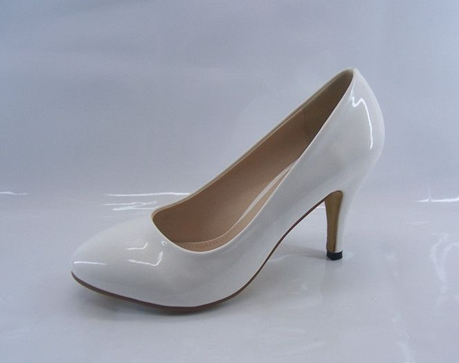 White Mid Heel Pumps wk9DMWVE