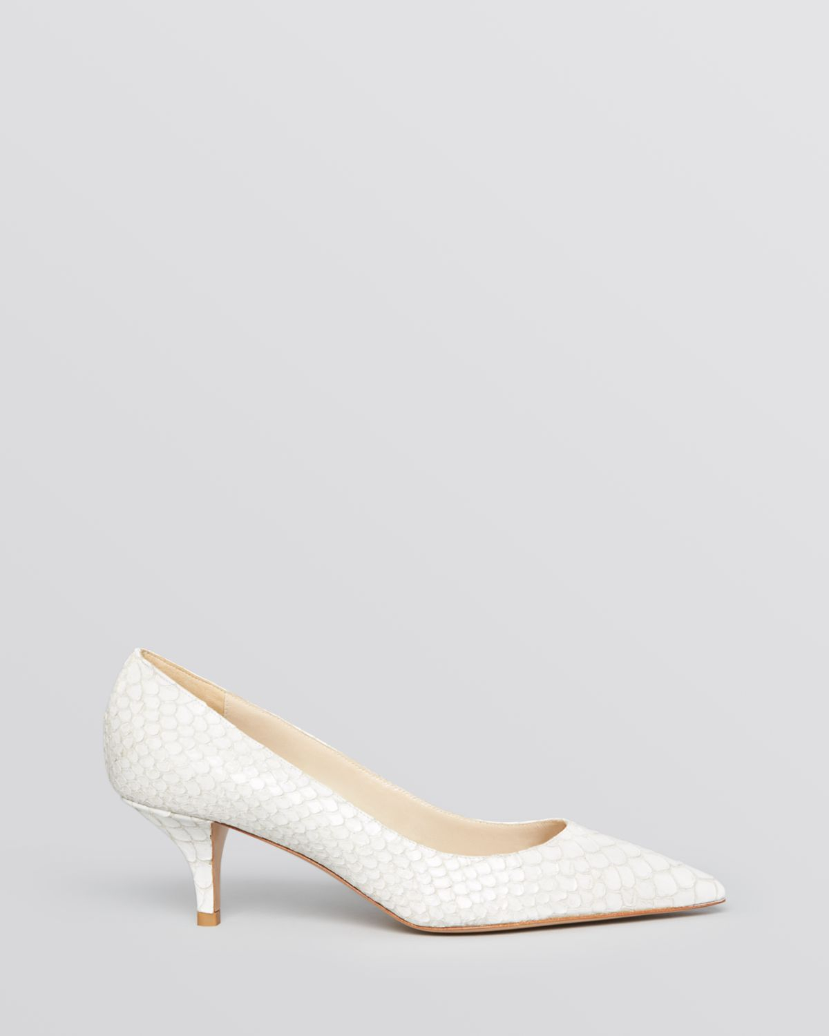 White Mid Heel Pumps ARaNWEQo