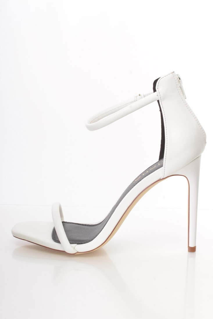 White Open Toe Heels 4aR4fYoA