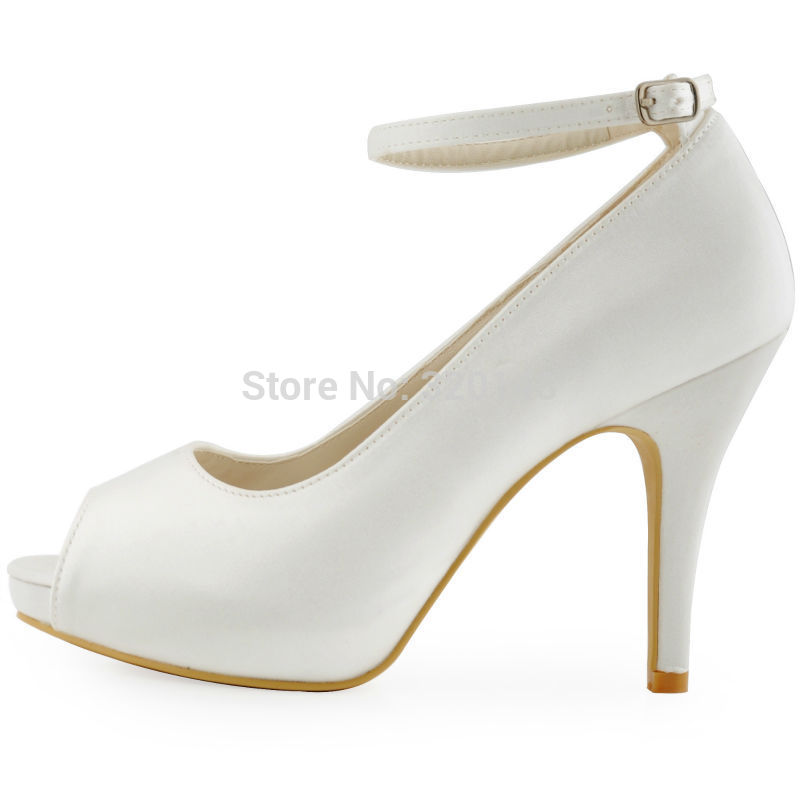 White Open Toe Heels Smg7698f