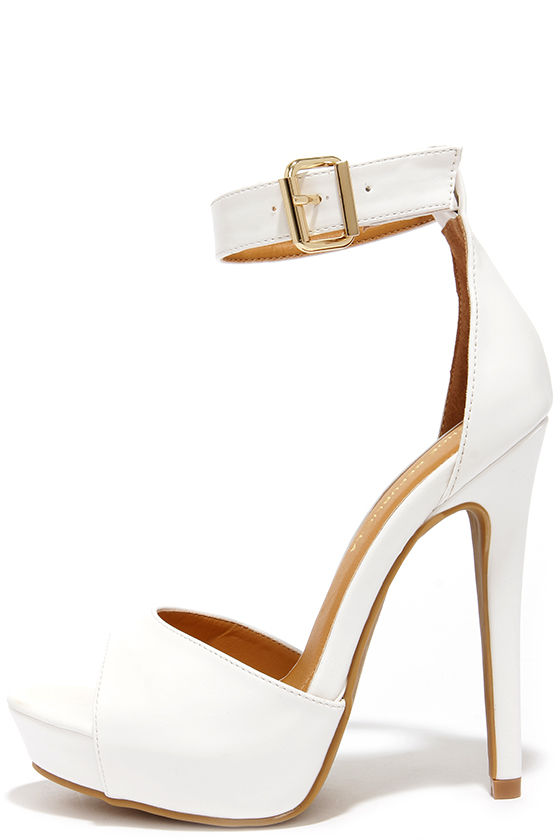 White Platform Heels With Ankle Strap Wl0xNyRQ