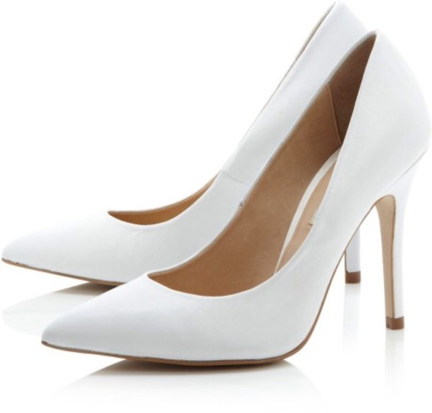 White Pointed Heels hd3vG3Ro
