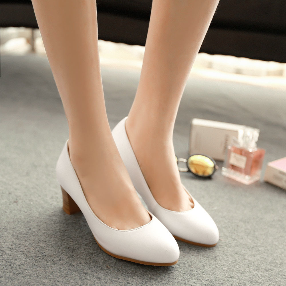 White Shoes Low Heel k7kOczl1