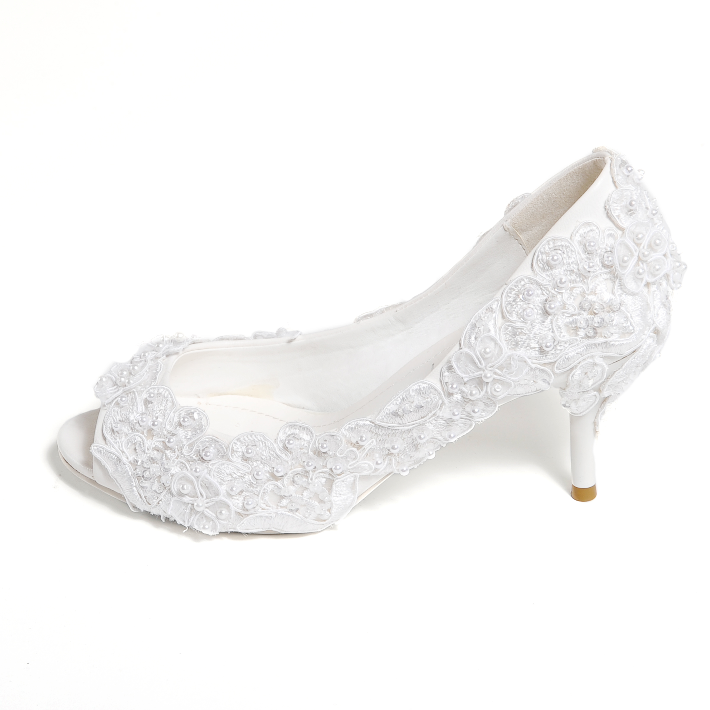 White Shoes Low Heel QiV46TXM