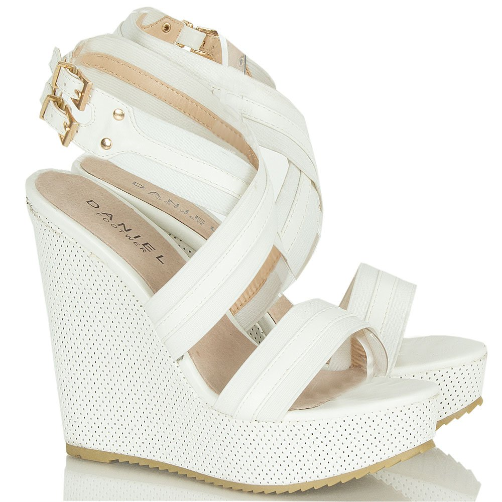 White Wedge Heel Sandals NNOfhRof