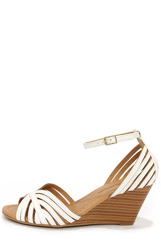 White Wedge Heel Sandals DYbtaRke